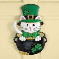 St. Patrick's Day Cat Door Decoration - 32992