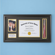 Graduation Photo and Diploma Keepsake Frame