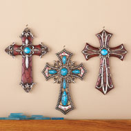 Western Hanging Cross Wall Decor - Set of 3