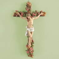 Hand-painted Crucifix Wall Décor - 33222