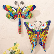Colorful Metal Hanging Wall Decor