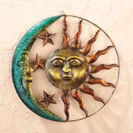 Sun and Moon Metal Wall Art - 33306