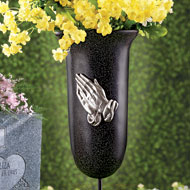 Outdoor Memorial Flower Vase with Stake - 33371