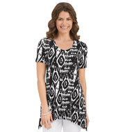 Sharkbite Scoop Neck Tunic Top