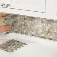 Mosaic Backsplash Tiles - Set of 6 - 33459