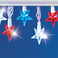 Patriotic Americana Star String Lights - 33488