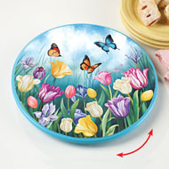 Spring Tulips and Butterflies Lazy Susan - 33560
