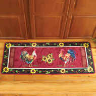 Cushioned French Country Rooster Rug - 33621