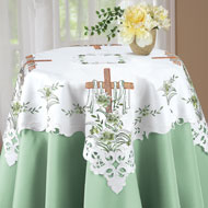 Embroidered Lily and Cross Easter Table Linens - 33644