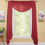 Sheer Window Scarf Curtain - 33695