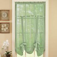 Sheer Tie Up Shade Curtain - 33696