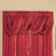 Sheer Scoop Valance Curtains - 2 pc - 33697