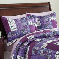 Caledonia Quilted Floral Pillow Shams Set - 33722