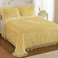 Calista Chenille Bedspread with Fringe Border