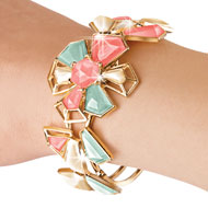 Melanie Jewelry Collection Floral Cuff Bracelet
