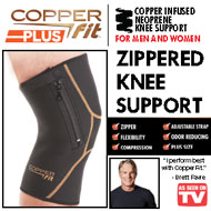 Copper Fit Plus Zippered Knee Support Sleeve - 33920