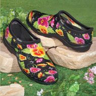 Black Pansy Sloggers Waterproof Garden Shoes - 33927