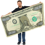 Million Dollar Bill Novelty Blanket - 33952