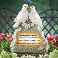 Doves Memorial Garden Stone with Solar Light - 34037