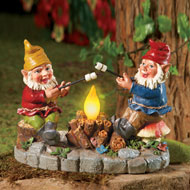 Solar Campfire Light Garden Gnomes
