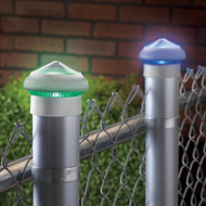 Color Changing Solar Post Cap Lights - Set of 2 - 34046