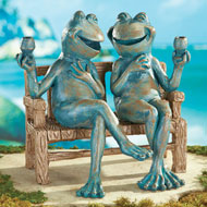 Happy Hour Frogs Garden Statue - 34075