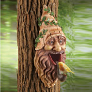 Tree Mounted Gnome Bird House - 34114