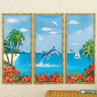 Tropical Canvas Panels - Set of 3 - 34138