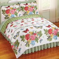 Abigail Rose, Bird and Butterfly Comforter Set - 34150