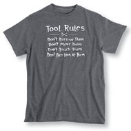 Tool Rules Charcoal Grey Short Sleeve T Shirt - 34209