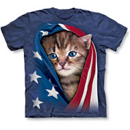 Patriotic Kitten T-shirt - 34213