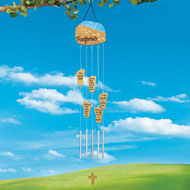 Power of Faith Footprints Wind Chime - 34220