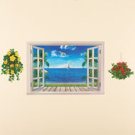 Beach View Window Wall Decor - 34257