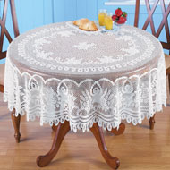 Crochet Lace Floral Tablecloth - 34468