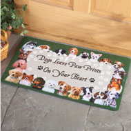 Dog Paw Prints on Your Heart Rug