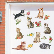 Kittens and Flowers Garage Door Magnets - 34504