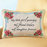 Daughter Forever Tapestry Throw Pillow - 34538