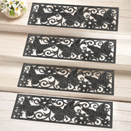 Butterfly Scroll Rubber Stair Treads - Set of 4 - 34547