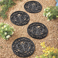 Garden Butterfly Rubber Stepping Stones - Set of 4 - 34548