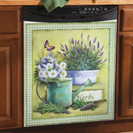 Herbs and Butterfly Dishwasher Magnet - 34549
