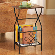 Side Table with Magazine Holder - 34555