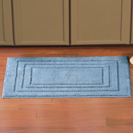 Plush Bordered Bath Mat