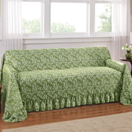 Leaf Design Furniture Cover with Ruffled Border - 34562