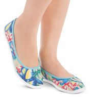 Tropical Floral Canvas Slip-on Shoes - 34574