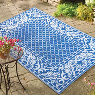 French Scrolling Leaf Border Outdoor Mat - 34653