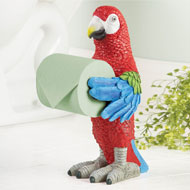 Tropical Parrot Toilet Paper Holder - 34667