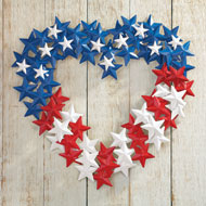 Patriotic American Flag-themed Star Wreath