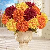 Multicolored Faux Mum Bushes - Set of 3 - 34786