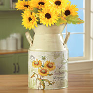 Country-style Sunflowers Milk Canister