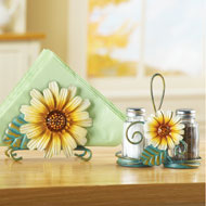 Sunflower Salt and Pepper Shaker Set